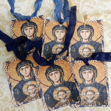 Sophia Hagia Gift Tags Orthodox Icon Virgin Mary Religious Gift Tags