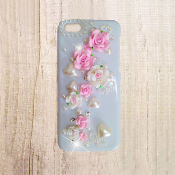 iPhone 6 plus case, iPhone 6 case, floral iPhone 6 plus case, cute iphone 6 plus case, flower iphone 6 pearl case, samsung galaxy s5 case