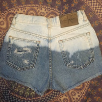 Distressed Calvin Klein high waisted shorts