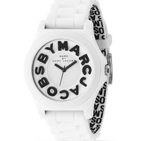 """MARC BY MARC JACOBS """"Sloane"""" White Rubber Watch, 40 mm 