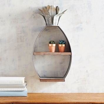 Galvanized Pineapple Shelf
