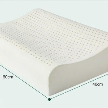 Breathable anti-mite snoring pillow latex wave form sleeping pillow, deep sleep bed pillow
