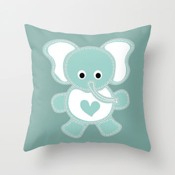 Elephant Throw Pillow by VanessaGF