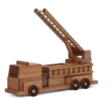 Wooden Truck Firetruck Traditional Toys for Kids