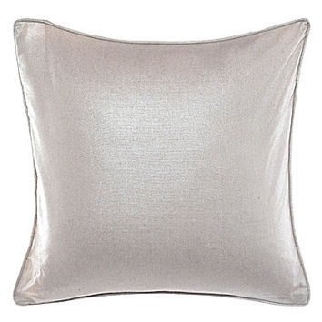 candice OLSON 20in. Metaliic Printed Pillow - Ivory