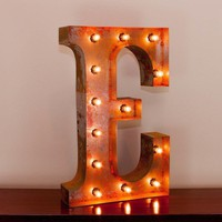"24"" Letter E Lighted Vintage Marquee Letters with Screw-on Sockets"