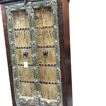 Mogulinterior Armoire Cabinet Reclaimed Antique Vintage Patina Storage Indian Furniture