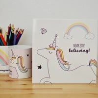 Never Stop Believing Unicorn Wall Art