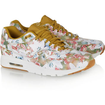 Nike | Air Max 1 Ultra floral-print leather sneakers | NET-A-PORTER.COM