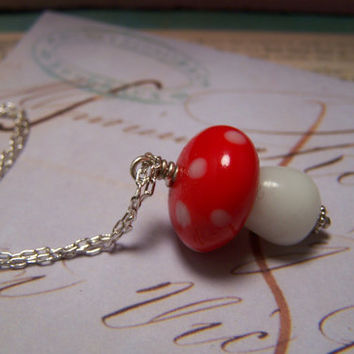 Fairytale Mushroom Necklace by EmilinaBallerina on Etsy