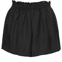 Twill Pull On Shorts by Boutique - Black