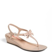Prada 'Bow' Wedge Sandal
