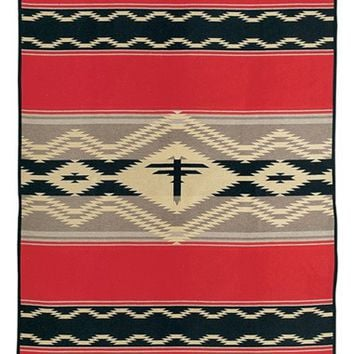 Pendleton 'Water' Wool Blend Blanket - Red