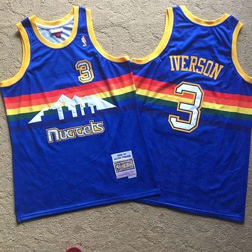 2006-07 Mitchell & Ness Denver Nuggets 3 Allen Iverson Swingman Jersey
