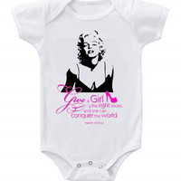 Cute Funny Marilyn Monroe Baby Bodysuits One Piece Shoes