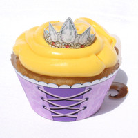 Disney Tangled - Inspired Printable Rapunzel Cupcake Wrapper (Instant Download)