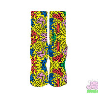 Keith Haring Pop Socks
