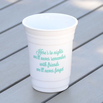 Personalized party cup | Girls weekend party cup | Reusable solo cup with friendship toast | Personalized plastic party cups