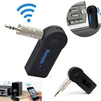 New Wireless Bluetooth Audio Music Receiver Adapter 3.5mm Streaming Car A2DP Car Kit AUX Hands With Mic for Phone