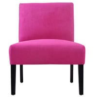 Handy Living Nate Slipper Chair - Color: Magenta