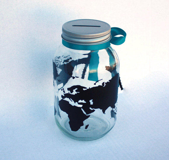 Globe bank world travels fund vacation from for Travel fund piggy bank