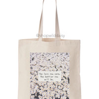 Less You Care Daisies Tote