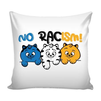 Graphic Pillow Cover No Racism