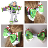 Handmade Hair Bow. Disney's Toy Story. Buzz Lightyear.