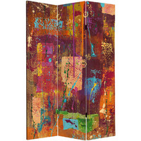 India Collage Canvas Room Divider