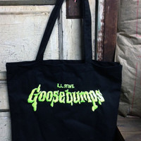 Goosebumps canvas tote bag R.L. Stine kids books ghost stories