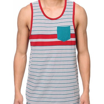 Empyre Lifeguard Grey and Teal Tank Top