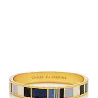 Kate Spade Chase Rainbows Hinged Idiom Bangle Blue Multi ONE