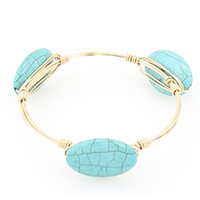 Turquoise Wire Bangle