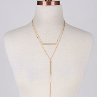 Break Out Gold Layered Bar Necklace