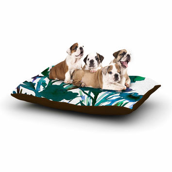 "Ebi Emporium ""Petal For Your Thoughts Teal"" Turquoise Green Dog Bed"