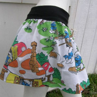 SMURF TuTu Skirt your size made from vintage fabric