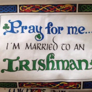 T-Shirt Size XXL XL 2XL Married To An Irish Man Shirt White Short Sleeve Cotton