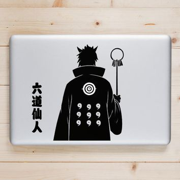 Naruto Sasauke ninja Ootutuki Hagoromo  Laptop Decal for Apple Macbook Sticker Pro Air Retina 11 12 13 15 inch  Acer Mac Book Anime Vinyl Skin AT_81_8