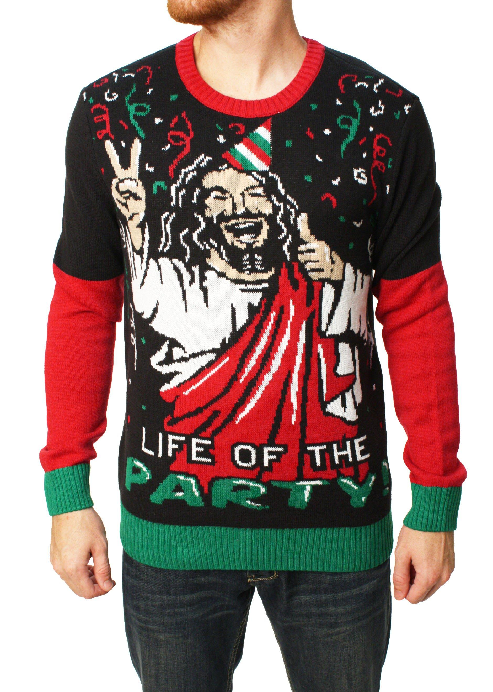 Ugly Christmas Sweater Men\'s Jesus Is The from WedgeNix