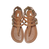 Shop DIANI | Cynthia Vincent Shoes Dinah Tobacco Gladiator Sandal
