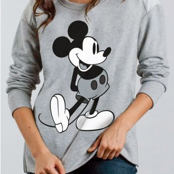 Junk Food Clothing - Mickey Mouse High-Low Moto Fleece - New Arrivals - Womens