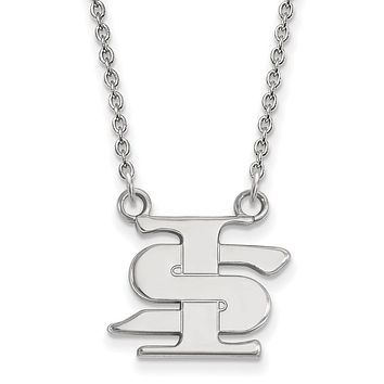 NCAA Sterling Silver Indiana State Small Pendant Necklace