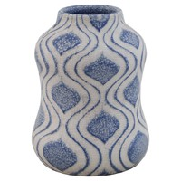 "Ceramic Cerulean Wide Vase - Light Blue (9"")"