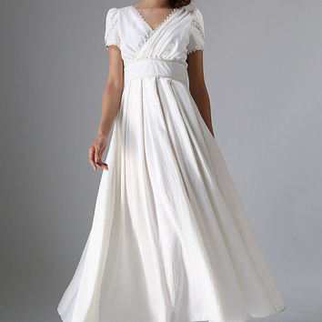 Shop Linen Wedding Dress on Wanelo