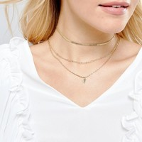 ASOS Vintage Style Chain Multirow Necklace at asos.com