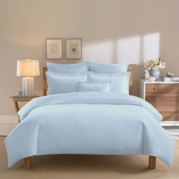 Real Simple® Linear Blue Duvet Cover