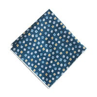 J.Crew Mens Italian Cotton Pocket Square In Ink-Dot Floral