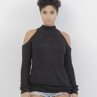 ARI KNIT SWEATER in BLACK at FLYJANE