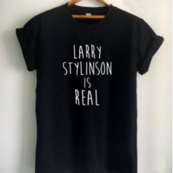 [LARRY STYLINSON IS REAL] solid color fashion T shirt