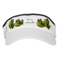 Cucumber Pickles and Flowers Headsweats Visors